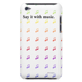 Rainbow Musical Notes Barely There iPod Covers