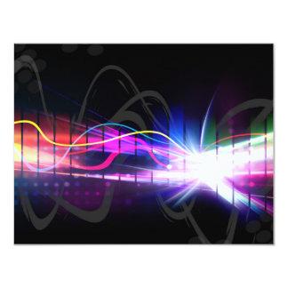 Rainbow Musical Wave Form 4.25x5.5 Paper Invitation Card