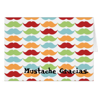 Rainbow Mustache Thank You Note Cards
