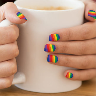 Rainbow nail covers minx nail art