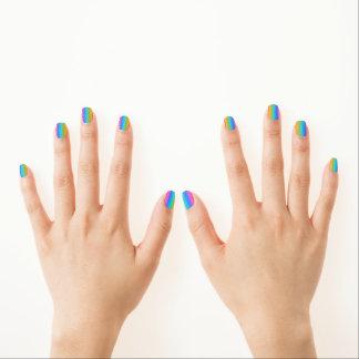 Rainbow nails nail wraps