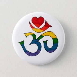 Rainbow Namaste 6 Cm Round Badge