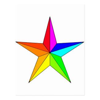 Rainbow Nautical Star Postcard
