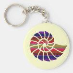 Rainbow Nautilus Shell Keychains