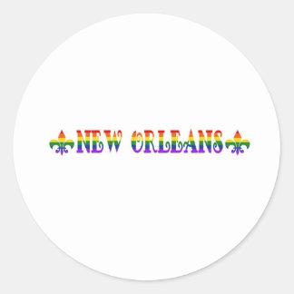 Rainbow New Orleans Classic Round Sticker
