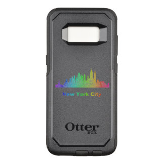 Rainbow New York City skyline OtterBox Commuter Samsung Galaxy S8 Case