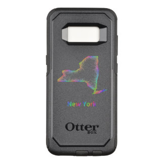 Rainbow New York map OtterBox Commuter Samsung Galaxy S8 Case