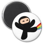 Rainbow Ninja Kick Magnets