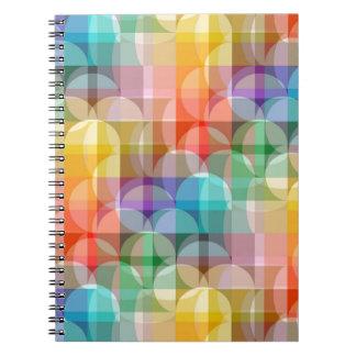 Rainbow Spiral Note Books