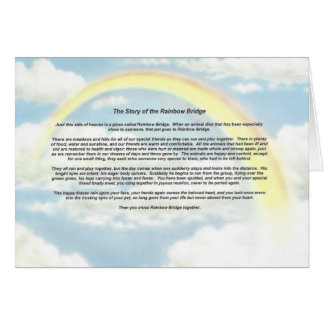 Rainbow Notecard with The Rainbow Bridge