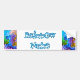 Rainbow Nuke collection Bumper Sticker