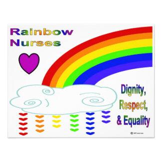 Rainbow Nurses Custom Invite