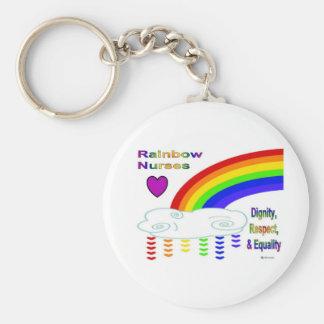 Rainbow Nurses Keychain