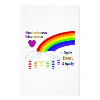 Rainbow Nurses Stationery Design