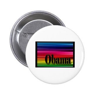 Rainbow Obama Pinback Buttons