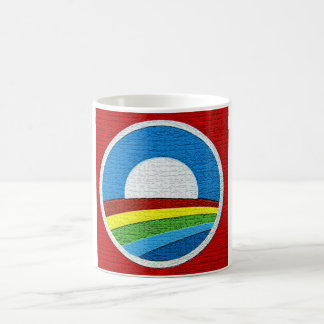 Rainbow Obama  Circle Design Coffee Mug