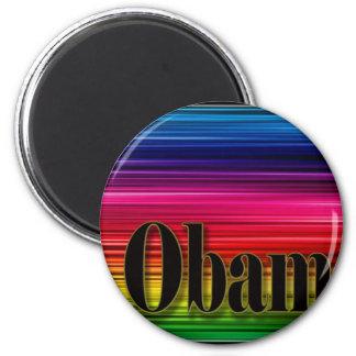 Rainbow Obama Refrigerator Magnet
