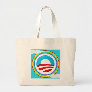 Rainbow Obama Marriage Equality Designs Jumbo Tote Bag