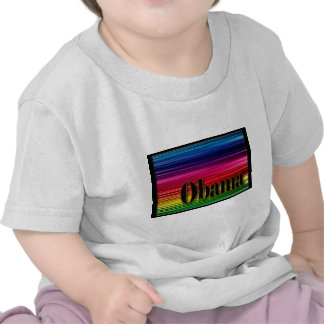 Rainbow Obama T-shirts