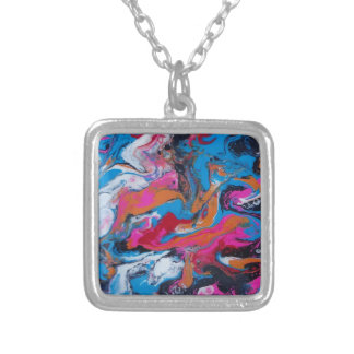 Rainbow Ocean Silver Plated Necklace