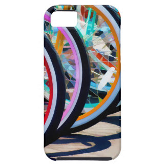 Rainbow of bicycles case for the iPhone 5