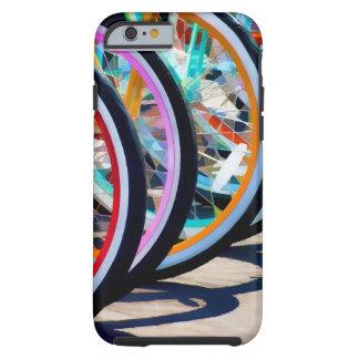 Rainbow of bicycles iPhone 6 case