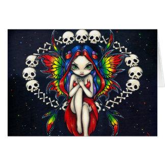 """Rainbow of Bones"" Greeting Card"