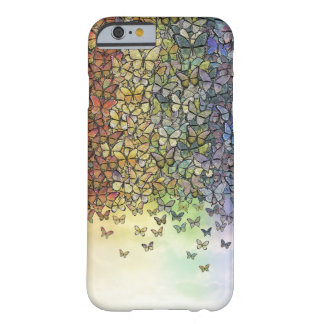 rainbow of butterflies aflutter barely there iPhone 6 case
