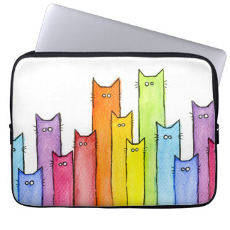 Rainbow of Cats Laptop Sleeve