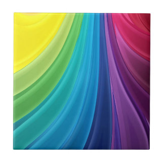 Rainbow of Color Ceramic Tile Back Splash