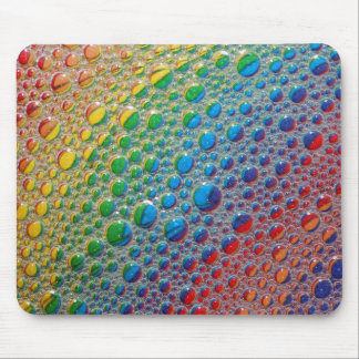 Rainbow of Colorful Bubbles Mouse Pad
