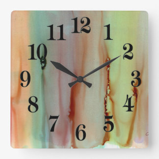 Rainbow of Colors Square Wall Clock