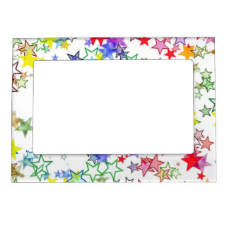 Rainbow of Colors Stars Magnetic Frame