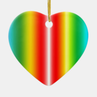 Rainbow of colours ceramic heart decoration