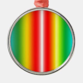Rainbow of colours christmas ornament