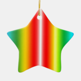 Rainbow of colours christmas ornament