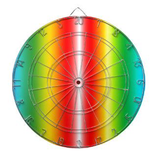 Rainbow of colours dartboard