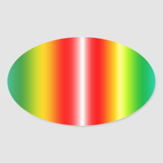 Rainbow of colours oval stickers