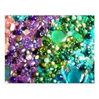 Rainbow of Craft Beads Postcard