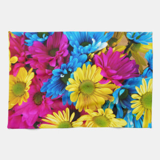 Rainbow of Daisies Tea Towel