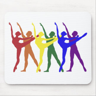 Rainbow of Dancers Mouse Pad