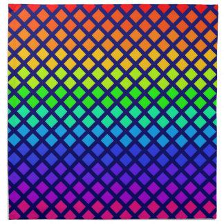 Rainbow of Diamonds cloth napkins