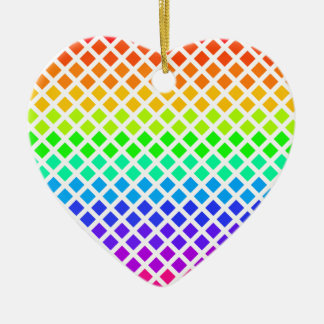 Rainbow of Diamonds ornament, customize Christmas Ornament