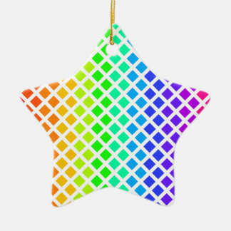 Rainbow of Diamonds ornament, customize Christmas Ornament