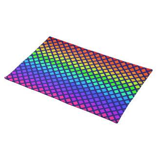 Rainbow of Diamonds placemat