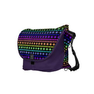 Rainbow of Dots messenger bag