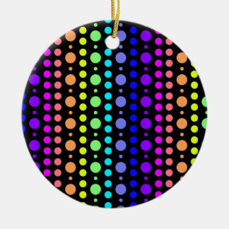 Rainbow of Dots ornament, double-sided Christmas Ornament