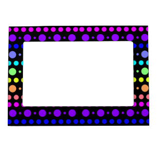 Rainbow of Dots picture frame
