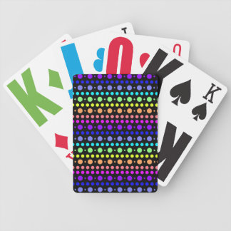 Rainbow of Dots playing cards