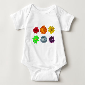 Rainbow of Flowers T-shirts